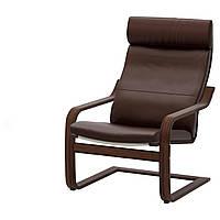 IKEA POANG Кресло, коричневый, голос прочный темно-коричневый  (898.607.65), фото 1