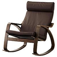 IKEA POANG Кресло-качалка, коричневый, голос прочный темно-коричневый  (699.008.66), фото 1