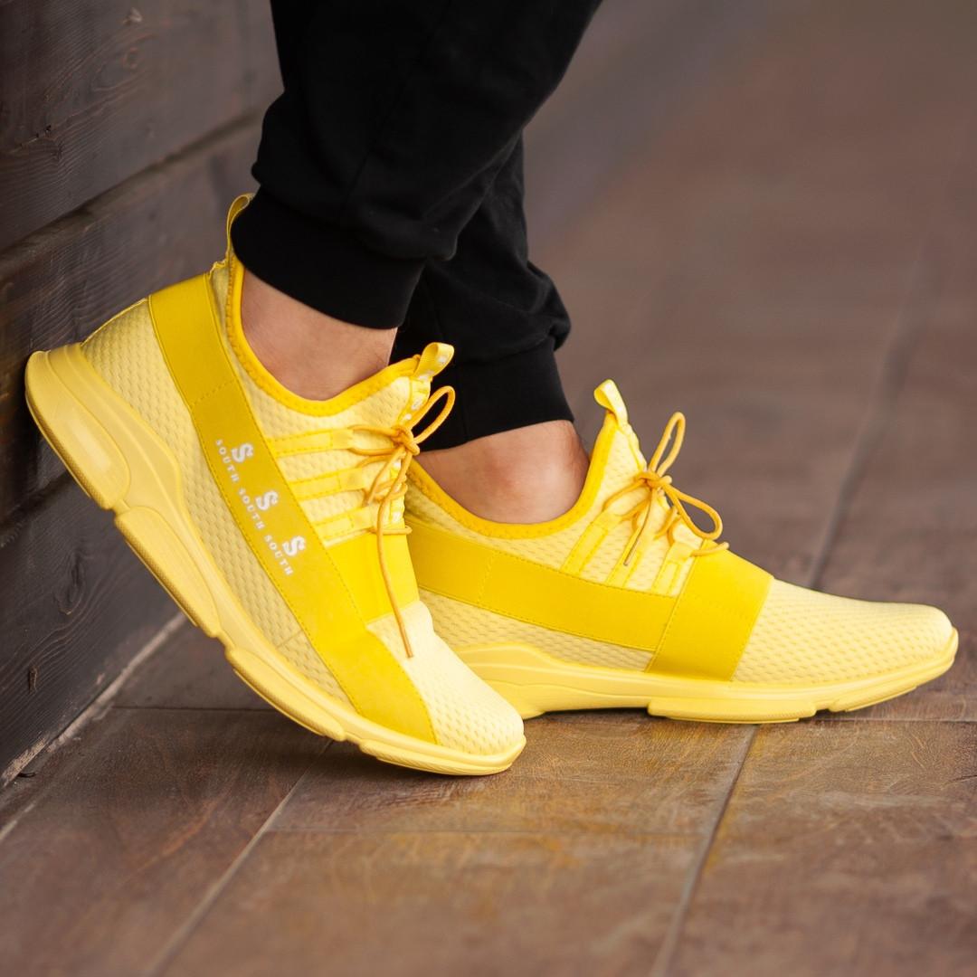 Чоловічі кросівки South Fresh YELLOW, легкі класичні жовті кросівки на літо