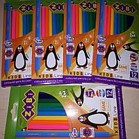 Цветные карандаши ZiBi 12 цв