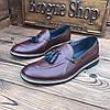 Мужские туфли лоферы броги чоловічі туфлі, фото 2