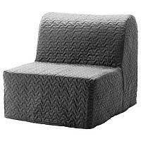 IKEA LYCKSELEMURBO Раскладное кресло, Валларум серый  (891.341.62), фото 1
