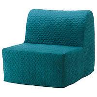IKEA LYCKSELEMURBO Раскладное кресло, Валларум бирюза  (491.341.64), фото 1