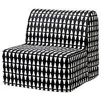 IKEA LYCKSELEHAVET Раскладное кресло, Еббарп черный/белый  (891.341.43), фото 1