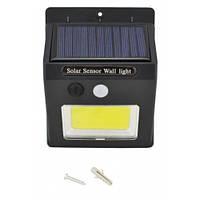 Настенный уличный Светильник UKC SH-1605 с датчиком движения солнечной панелью Яркий незаменимый для дачи дома