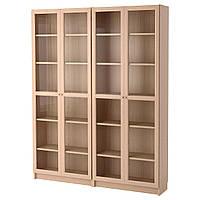 IKEA BILLY/OXBERG Книжный шкаф с дверями, дубовый шпон, (492.499.66)