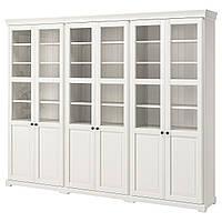 IKEA LIATORP Книжный шкаф с дверями, белый  (190.464.42)