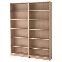 IKEA BILLY Книжный шкаф, белая Морилка дубовый шпон  (192.499.44), фото 1