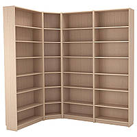 IKEA BILLY Книжный шкаф, белая Морилка дубовый шпон  (492.499.47), фото 1
