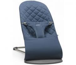 Кресло-шезлонг BabyBjorn Balance Midnight Cotton, темно-синий (006015)