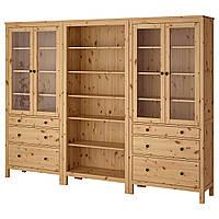 IKEA HEMNES Книжный шкаф с дверями, светло-коричневый  (792.338.03), фото 1
