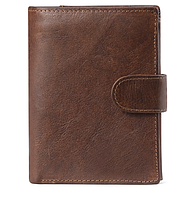 Мужской кожаный бумажник-портмоне. Вместительный и практичный.