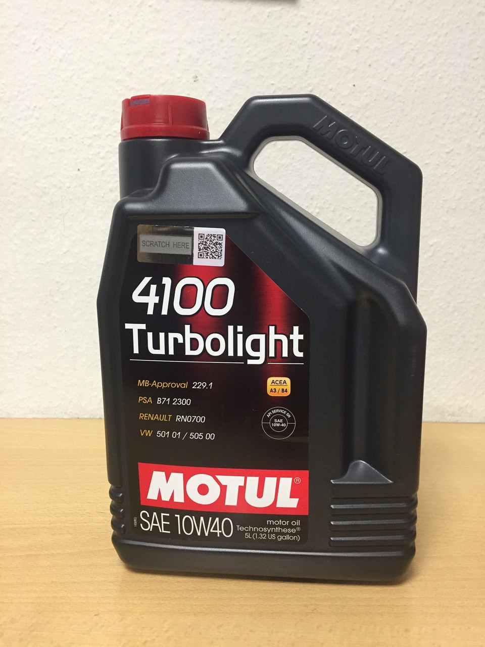 Масло MOTUL 4100 Turbolight 10W-40 5л (108645/100357)