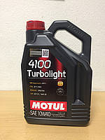 Масло MOTUL 4100 Turbolight 10W-40 5л (108645/100357), фото 1