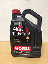 Масло MOTUL 4100 Turbolight 10W-40 5л (108645/100357)