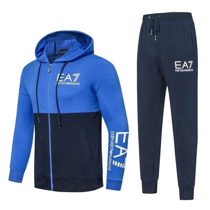 Спортивный костюм EA7 Emporio Armani Athletic Cotton Tracksuit XXL Тёмно-синий (88265)