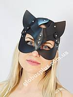 Женская портупея на лицо, маска кошки черная 930802