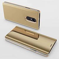 Чехол Mirror для Xiaomi Redmi Note 4x / Note 4 Global книжка Gold
