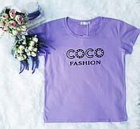 Футболка коттоновая женская COCO Fashion (ПОШТУЧНО), фото 1