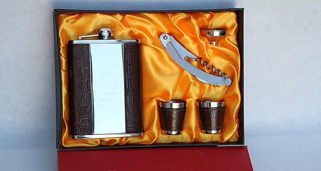 Набор мужской 2 стопки+нож