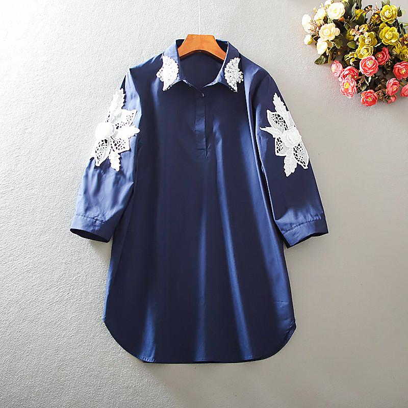 Модная женская рубашка с вышивкой 46-52 (в расцветках)