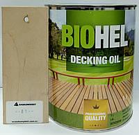 BIOHEL DECKING OIL масло для террас 1 л. №01 - PASTEL.