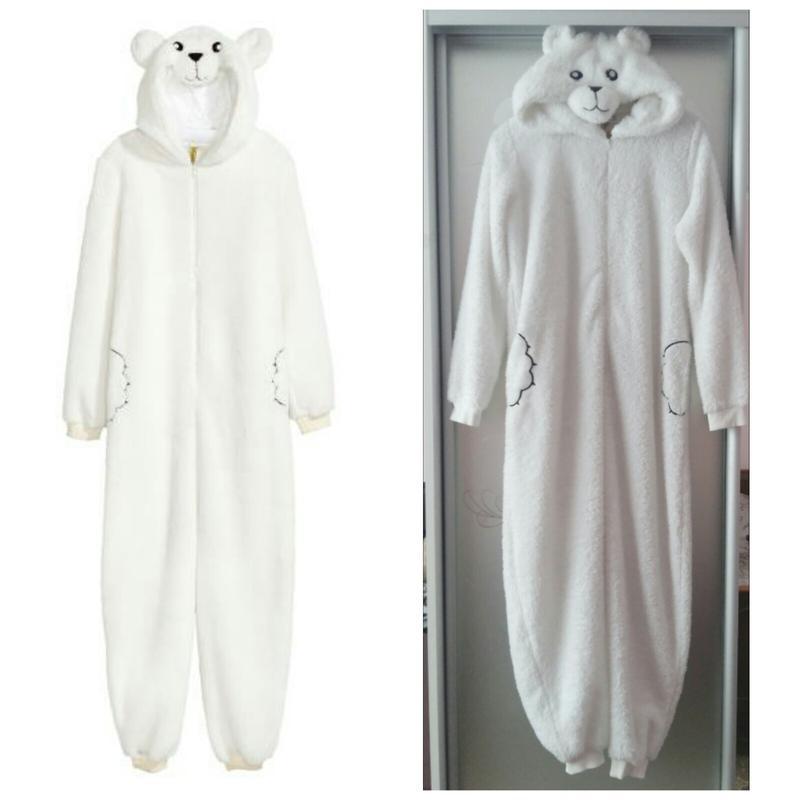 Мягкая, теплая пижама-кигуруми комбинезон Северный Мишка (Размер 9-10Т) H&M (Англия)