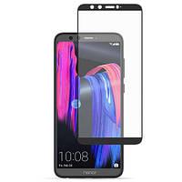 Защитное стекло 3D Huawei Honor 9 Lite black (без упаковки)