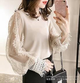 Женственный пуловер из трикотажа 42-44 ( в расцветках)