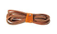 Шнурки кожаные 3,5*1000мм (светло-коричневый)