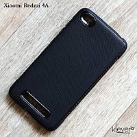 Матовый силиконовый чехол для Xiaomi Redmi 4A (черный)