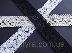 Бавовняне мереживо котон А, 0084, біле, бежеве, чорне