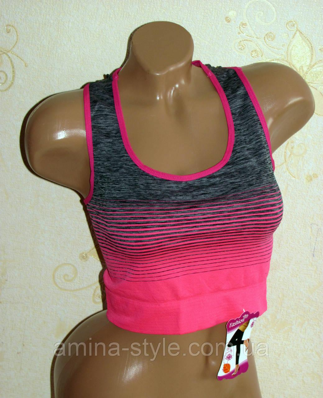 Топ спортивный женский, одежда для фитнеса, 42-48 размер