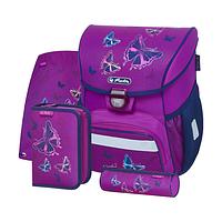 Ранец школьный укоплектованный Herlitz LOOP PLUS Butterfly Glitter 4 в 1 (50020485)