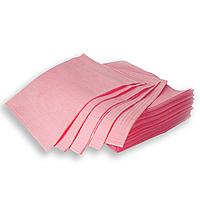 Нагрудники - салфетки 430 х 330 мм, стоматологические трехслойные текстурированные, Розовые 500 шт.