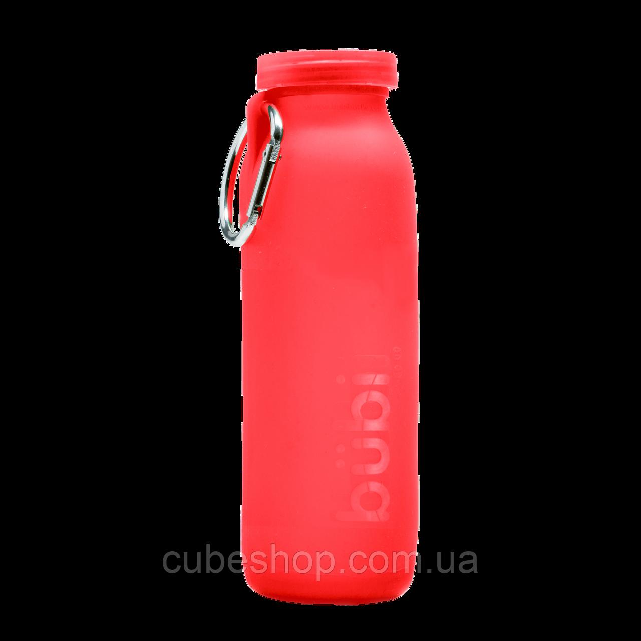 Силиконовая бутылка для воды Bubi Bottle Crimson Red (650 мл)