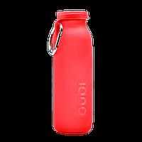 Силиконовая бутылка для воды Bubi Bottle Crimson Red (650 мл), фото 1