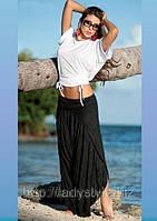 Хит сезона - шикарные брюки-юбка черного цвета