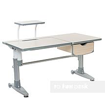 Комплект подростковая парта для школы Ballare Grey + ортопедическое кресло Bello II Grey FunDesk , фото 3