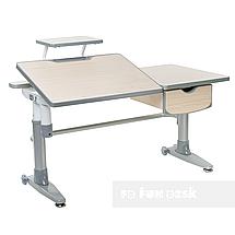 Комплект подростковая парта для школы Ballare Grey + ортопедическое кресло Bello II Grey FunDesk , фото 2