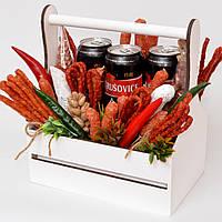 Подарочный набор мужчине / букет мужчине / мясной набор / подарок мужчине / набор в корзине / набор пива