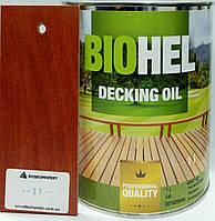 BIOHEL DECKING OIL масло для террас 1 л. №37 - ЧЕРЕШНЯ.