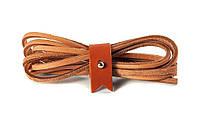 Шнурки кожаные 3,5*1000мм (песочный)