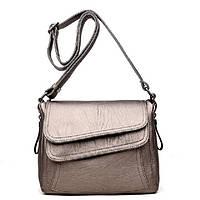 Износостойкая Женская сумка на плечо KAVARD   2 Цвета! Бронзовый