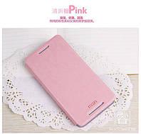 Кожаный чехол книжка MOFI для HTC Desire 700 розовый