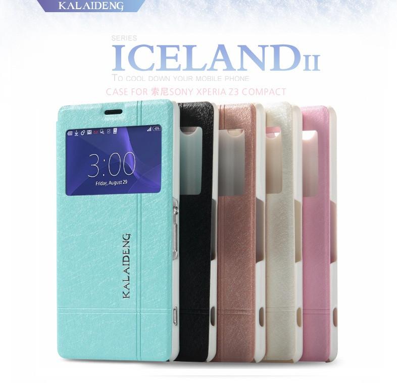 "SONY Z3 mini compact D5803 XPERIA чехол книжка с окошком SILC для телефона ""KLD ICELAND"""