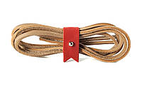 Шнурки кожаные 3,5*1000мм (темно-бежевый )
