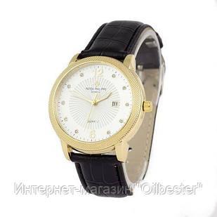 Часы мужские Patek Philippe реплика quartz 8610-1 Black/Gold/White