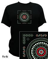 Резная футболка с авторской вышивкой