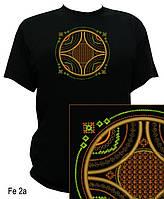 Геометрическая футболка с авторской вышивкой